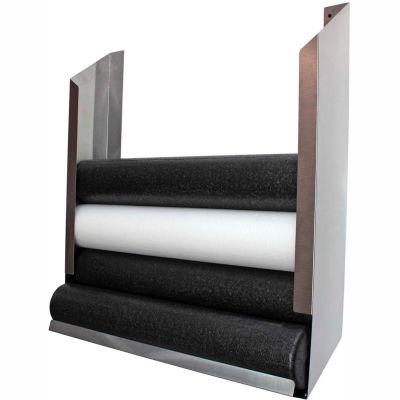 "CanDo® Foam Roller Wall-Mount Storage Rack - 36""L x 10""W x 40""H"