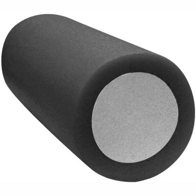 """CanDo® 2-Layer Round Foam Roller, 6"""" Dia. x 30""""L, Black, X-Firm"""