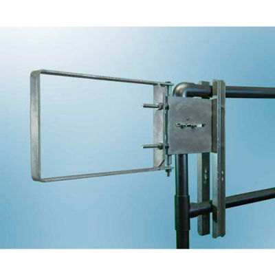 """FabEnCo A Series Carbon Steel Galvanized Clamp-On Self-Closing Safety Gate, Fits Opening 22-24.5"""""""