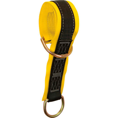 """FallTech® 7336 Web Pass-through Anchor Sling with 2 D-rings and 3"""" Wear Pad, 3' Long"""