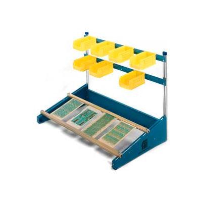 "Fancort 48""L x 19-1/2""W Combo-Slide Bench Top PCB Assembly Fixture w/ 2 PCB Rails"