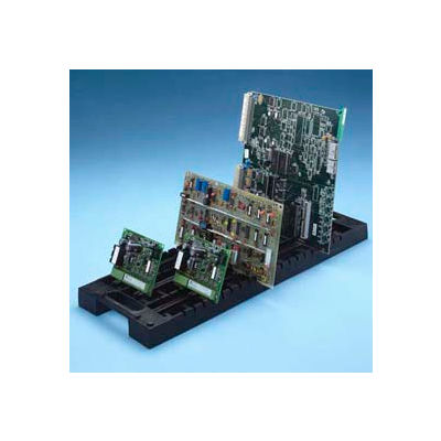 Fancort Universal Rack-All Model Ra-20, Black Conductive, 20 Slots - Pkg Qty 10