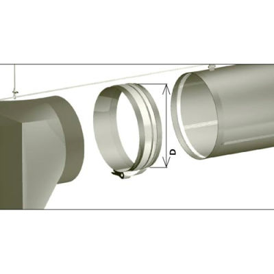 "Zip-A-Duct™ 12""  Gray Inlet Section"