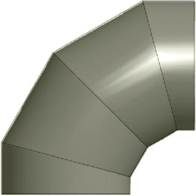 """Zip-A-Duct™ 24"""" Diameter 90 ° Gray Right Hand Elbow"""