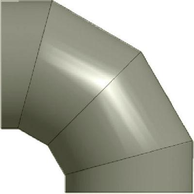"""Zip-A-Duct™ 28"""" Diameter 90 ° Gray Left Hand Elbow"""