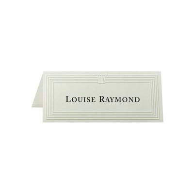 """First Base Overtures Embossed Place Cards, 4-1/4"""" x 1-3/4"""", 47 lb, Ivory, 60 Sheets/Pack"""