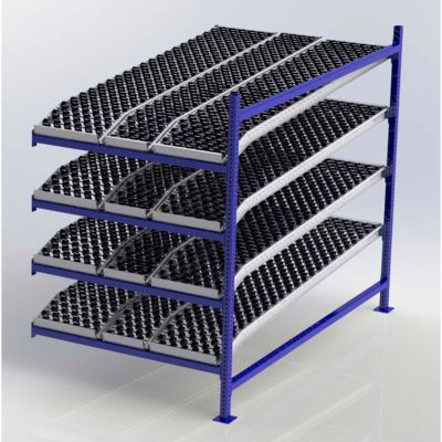 """UNEX FC99SKW48844-A Flow Cell Presentation Gravity Rack Add-On, 48""""W x 84""""D x 72""""H"""