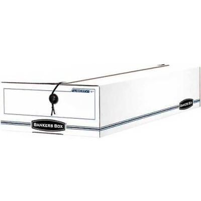 "Fellowes 00003 Liberty® Check And Form Boxes, 24""L x 6-1/4""W x 4-1/2""H, White/Blue - Pkg Qty 12"