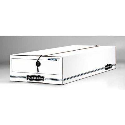 "Fellowes 00005 Liberty® Check And Form Boxes, 24""L x 11""W x 5""H, White/Blue - Pkg Qty 12"