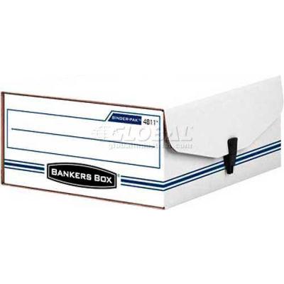 "Fellowes 48110 Liberty Binder-Pak, Binder & Letter Box,11-7/8""Lx9-3/4""Wx4-3/4""H, White/Blue - Pkg Qty 12"