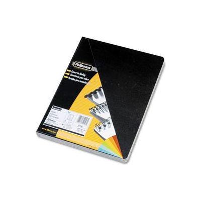 "Fellowes® Executive Presentation Covers, 8-3/4"" x 11-1/4"", Black, 50/Pk - Pkg Qty 8"