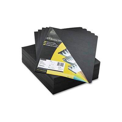 "Fellowes® Executive Presentation Covers, 8-3/4"" x 11-1/4"", Black, 200/Pk - Pkg Qty 2"