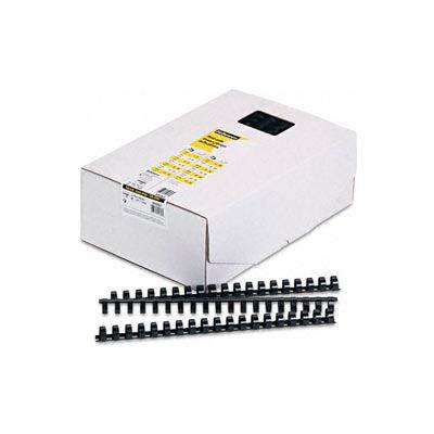 "Fellowes®  Plastic Combs - Round Back, 5/8"", 120 Sheets, Black, 100/Pk - Pkg Qty 5"