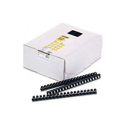 "Fellowes® Plastic Combs - Round Back, 3/4"", 150 Sheets, Black, 100/Pk - Pkg Qty 5"