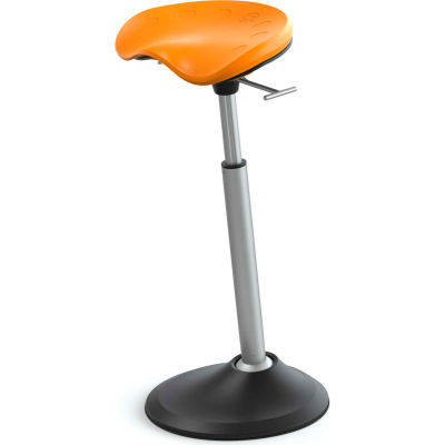 Safco® Mobis® II Active Sit-Stand Perching Stool - Citrus - Focal™ Series