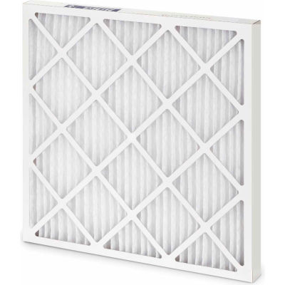 """Global Industrial™ Standard Capacity Pleated Air Filter, MERV 8, Wire Backed, 24""""Wx24""""Hx4""""D - Pkg Qty 6"""