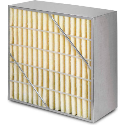 "20""W x 24""H x 12""D Rigid Cell MERV 11 Air Filter Box - Fiberglass - Global Industrial™"