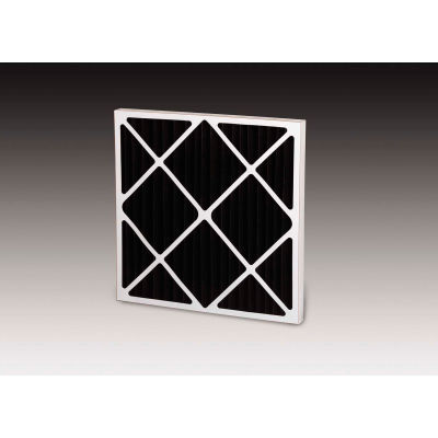 """Global Industrial™ Standard Capacity Carbon Pleated Air Filter, MERV 5, 25""""Wx16""""Hx1""""D - Pkg Qty 12"""
