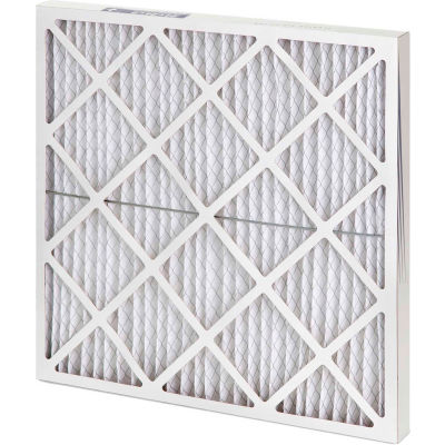"Global Industrial™ High Capacity Diamond Pleated Air Filter, MERV 10, 25""Wx16""Hx2""D - Pkg Qty 12"