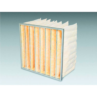 "24""W x 24""H x 15""D 10 Pocket MERV 8 Air Filter - Global Industrial™ - Pkg Qty 4"