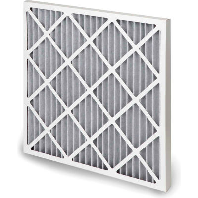 "Global Industrial™ High Capacity Carbon Pleated Air Filter, MERV 10, 20""Wx14""Hx1""D - Pkg Qty 12"