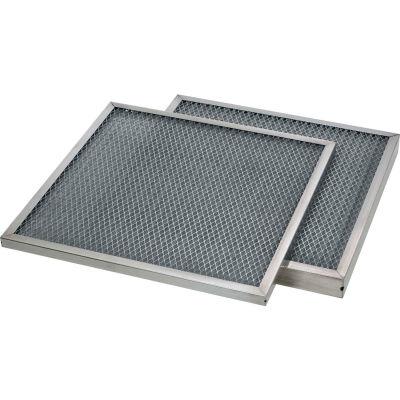 "24""W x 12""H x 1/2""D Aluminum Mesh MERV 4 Air Filter - Global Industrial™ - Pkg Qty 12"