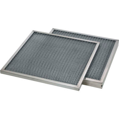 "20""W x 20""H x 2""D Galvanized Mesh MERV 4 Air Filter - Global Industrial™ - Pkg Qty 6"
