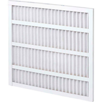 """Global Industrial™ Standard Capacity Pleated Air Filter, MERV 8, Self-Supported, 30""""Wx20""""Hx1""""D - Pkg Qty 12"""