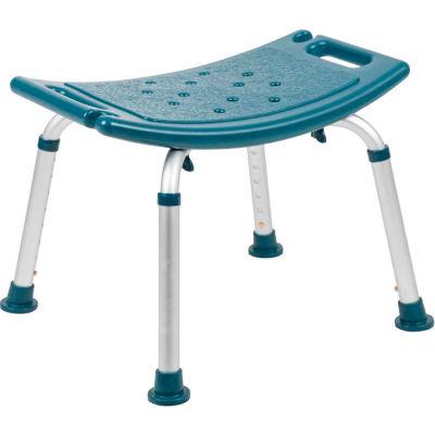 "Flash Furniture Hercules Series Adjustable Height Bath Stool, 20"" x 12"" Seat, 14.5""-21.5""H, Navy"