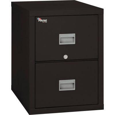"Fireking Fireproof 2 Drawer Vertical File Cabinet Letter 17-3/4""Wx31-9/16""Dx27-3/4""H Black"