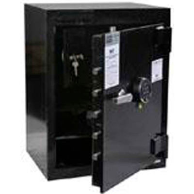 "FireKing Drop Drawer Safe B2820IC-S2-SG40 21-3/4""W x 17-1/4""D x 28"" Electronic Lock 4.83 Cu Ft Black"