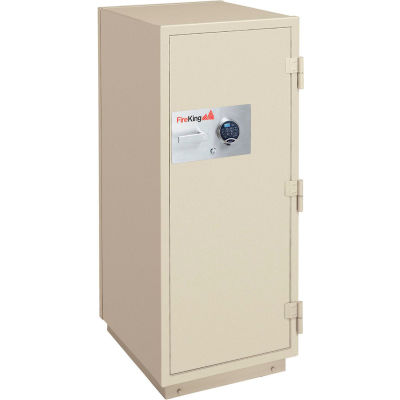 FireKing 2 Hr Fire Resistant Safe KR3921-2TAE 25-1/2 x 28-7/8 x 49-7/8 Electronic & Key Lock Taupe