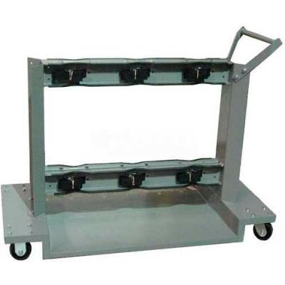 "Justrite® 6 Cylinder Wheeled Cart G-630 - 52""W x 24""D x 36-1/4""H - 2000 Lb. Capacity"