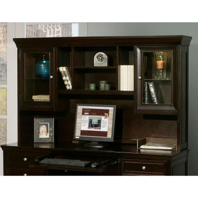 Martin Furniture Fully Assembled Fulton Executive Hutch, Brown