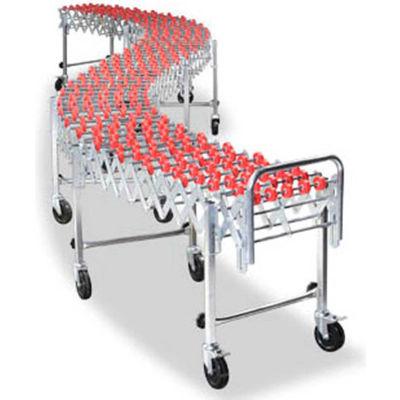 NestaFlex® 22618016N Flexible Conveyor - Poly Skate Wheels - Nylon Bushings 226 Lb. per ft.