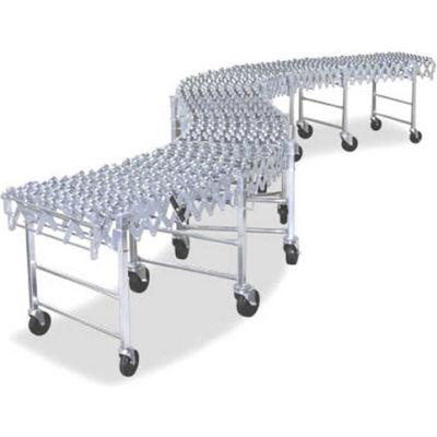 NestaFlex® 37618012SAL Expandable Flexible Conveyor - Steel Skate Wheels - 377 Lb./ft.