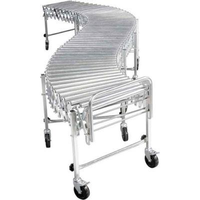 "NestaFlex® RLS18016S002 Flexible Roller Conveyor - Steel Rollers 200 Lb./ft. 4'5""L to 16'9""L"