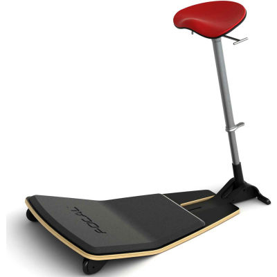 Safco® Locus™ Active Sit-Stand Stool with Anti-Fatigue Mat - Red - Focal™ Series