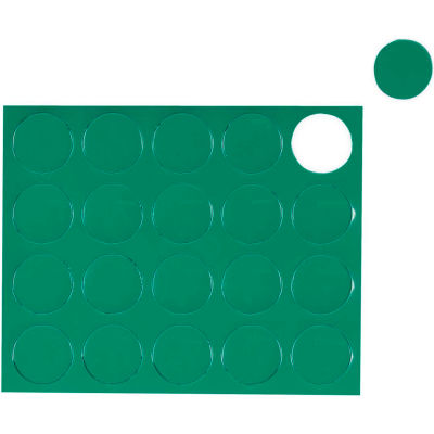 MasterVision Green Circle Magnets, Pack of 20