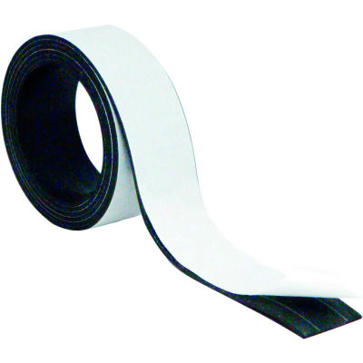 """MasterVision Magnetic Adhesive Tape Roll 1""""x 4 ft. Black"""