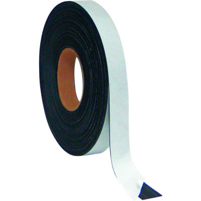 "MasterVision Magnetic Adhesive Tape Roll 1""x 50 ft. Black"