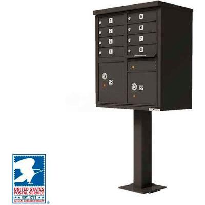 Vital Cluster Box Unit, 8 Mailboxes, 2 Parcel Lockers, Dark Bronze