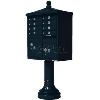 Vital Cluster Box Unit w/Vogue Traditional Accessories, 8 Unit & 2 Parcel Lockers, Black