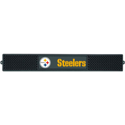 "FanMats Drink Mat, 13996, NFL - Pittsburgh Steelers, 3-1/4"" x 24"" x 1"""