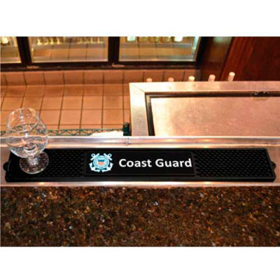 "FanMats Drink Mat, 15678, Military - U.S. Coast Guard, 3-1/4"" x 24"" x 1"""