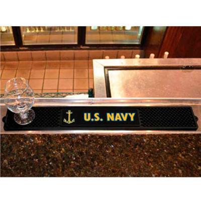 "FanMats Drink Mat, 15703, Military - U.S. Navy, 3-1/4"" x 24"" x 1"""