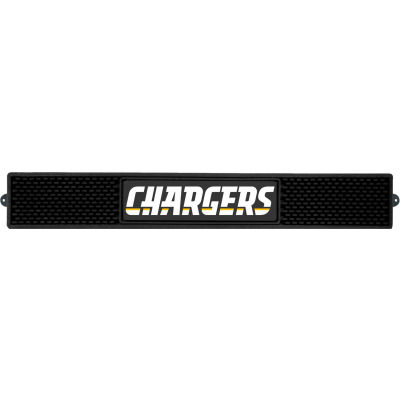 """FanMats Drink Mat, 20514, NFL - Los Angeles Chargers, 3-1/4""""x 24""""x 1"""""""