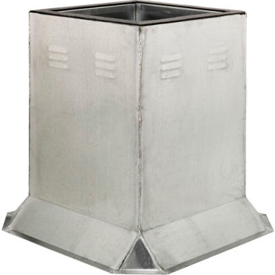 """Fantech Fixed Ventilated Curb 5ACC17VC, 17-1/2"""" Square x 24""""H, Galvanized Steel"""