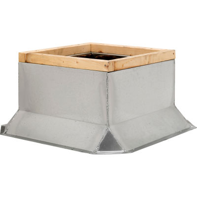 "Fantech Fixed Non-Ventilated Curb 5ACC28FT, 28-1/2"" Square x 12""H, Galvanized Steel"