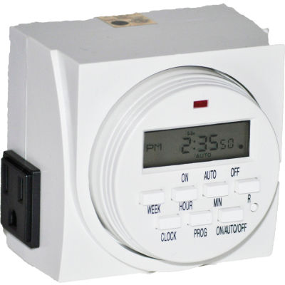 Fantech Programmable Digital Timer FTD 7 7 Day Grounded